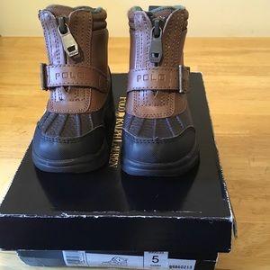 Polo Ralph Lauren Farleigh Hi Zip boots NEW